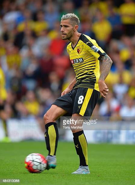Valon Behrami of Watford during the Barclays Premier League match between Watford and West Bromwich Albion at Vicarage Road on August 15 2015 in...