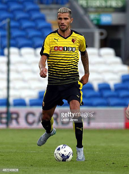 Valon Behrami of Watford during the pre season friendly match between Cardiff City and Watford at Cardiff City Stadium on July 28 2015 in Cardiff...
