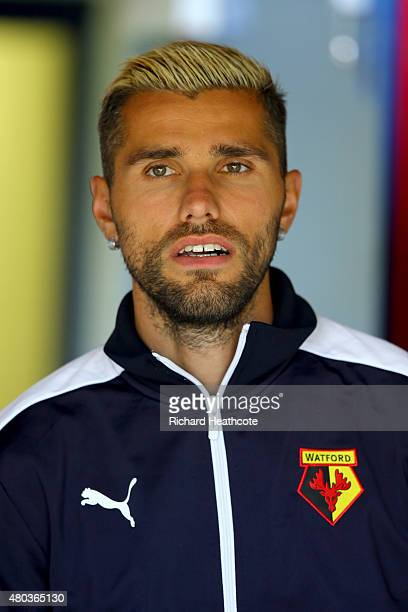 Valon Behrami of Watford looks on during the Pre Season Friendly match between AFC Wimbledon and Watford at The Cherry Red Records Stadium on July 11...
