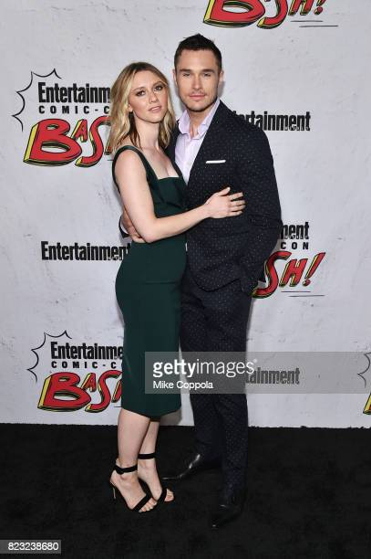 Valorie Curry and Sam Underwood at Entertainment Weekly's annual ComicCon party in celebration of ComicCon 2017 at Float at Hard Rock Hotel San Diego...