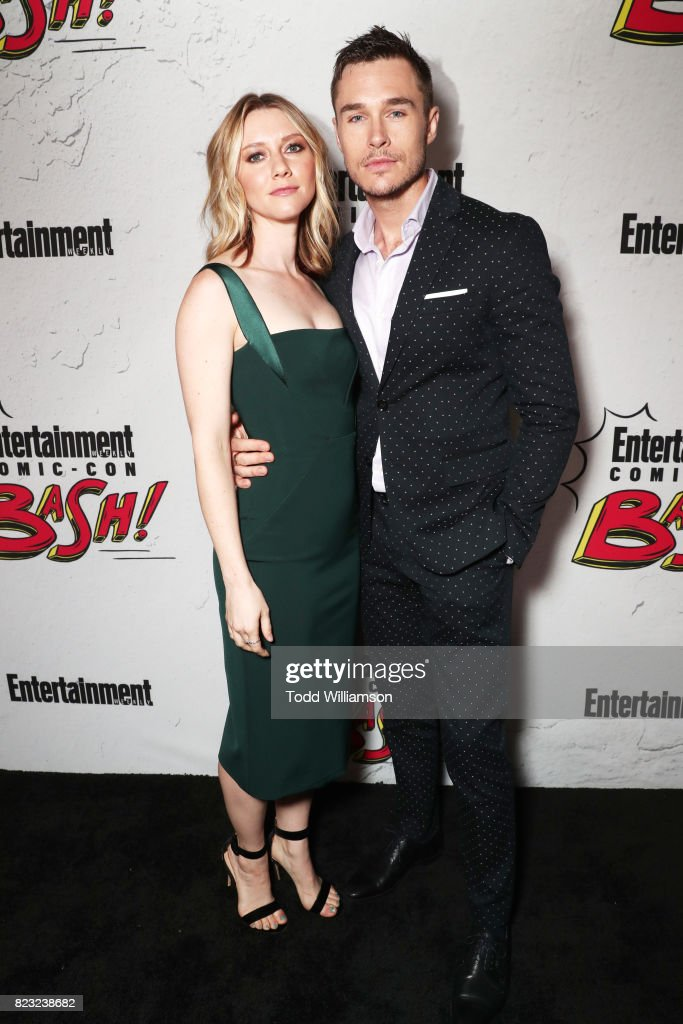 Valorie Curry and Sam Underwood at Entertainment Weekly's annual Comic-Con party in celebration of Comic-Con 2017 at Float at Hard Rock Hotel San Diego on July 22, 2017 in San Diego, California.