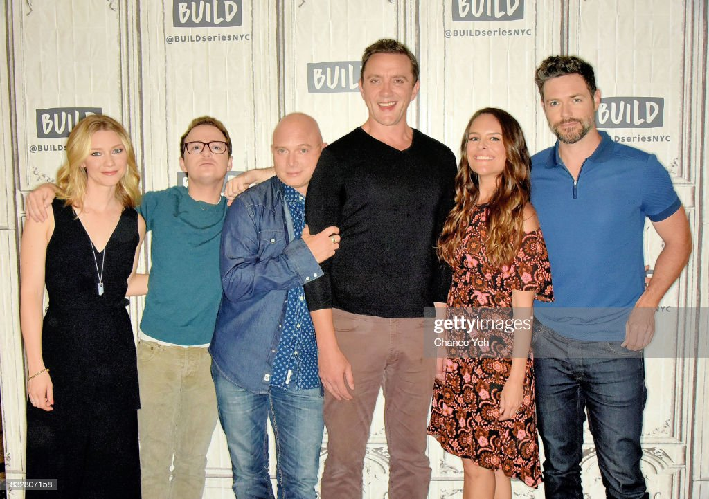 Valorie Curry, Griffin Newman, Michael Cerveris, Peter Serafinowicz, Yara Martinez and Brendan Hines attend the Build series to discuss 'The Tick' at Build Studio on August 16, 2017 in New York City.
