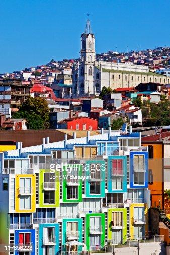 Valparaiso , Chile colorful buildings