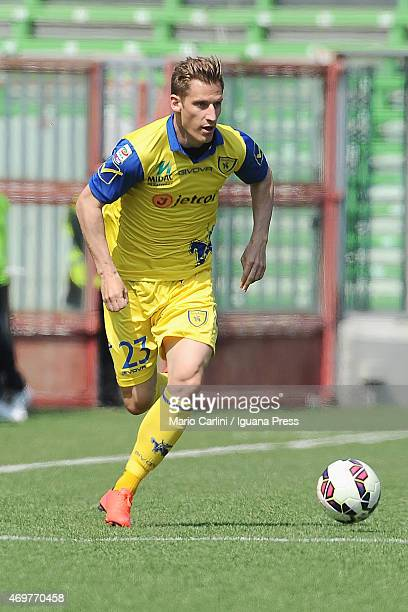 Valter Birsa AC Chievo Verona in action during the Serie A match between AC Cesena and AC Chievo Verona at Dino Manuzzi Stadium on April 12 2015 in...