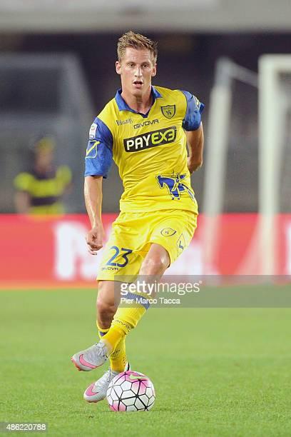 Valter Birsa of AC Chievo in action during the Serie A match between AC Chievo Verona and SS Lazio at Stadio Marc'Antonio Bentegodi on August 30 2015...