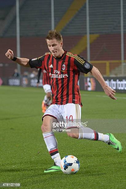 Valter Birsa of AC Milan in action during the Serie A match between Udinese Calcio and AC Milan at Stadio Friuli on March 8 2014 in Udine Italy