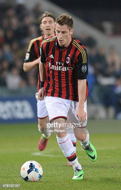 Valter Birsa of AC Milan runs the ball during the Serie A match between Udinese Calcio and AC Milan at Stadio Friuli on March 8 2014 in Udine Italy
