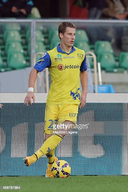 Valter Birsa of Chievo during the Serie A match between AC Chievo Verona and AC Cesena at Stadio Marc'Antonio Bentegodi on November 9 2014 in Verona...