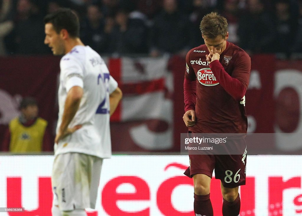 Valter Birsa of Torino FC celebrates his goal during the Serie A match between Torino FC and ACF Fiorentina at Stadio Olimpico di Torino on November 25, 2012 in Turin, Italy.