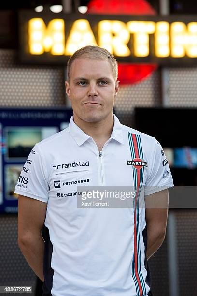 Valteri Bottas attends the inauguration of the Williams Martini Racing Terrace in Barcelona on May 7 2014 in Barcelona Spain
