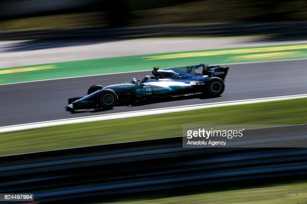 Valteri Bottas of Finnalnd and Mercedes Petronas on track during the Formula One Grand Prix of Hungary at Hungaroring on July 30 2017 in Budapest...