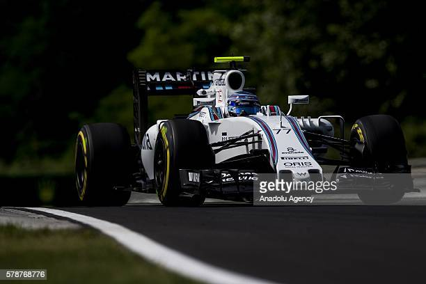 Valteri Bottas of Finnland driving the Williams Martini Racing on track during practice for the Formula One Grand Prix of Hungary at Hungaroring on...