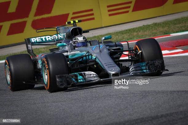 Valteri Bottas of Mercedes during the first training session of GP of Spain in Montmeló at Catalunya's Circuit on May 12 2017
