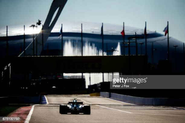 Valterri Bottas of Mercedes and Finland during the Formula One Grand Prix of Russia on April 30 2017 in Sochi Russia