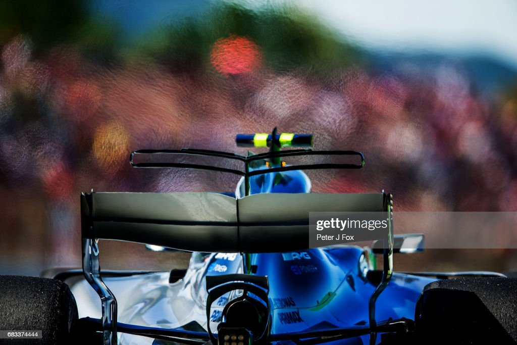 Valterri Bottas of Mercedes and Finland during the Spanish Formula One Grand Prix at Circuit de Catalunya on May 14, 2017 in Montmelo, Spain.