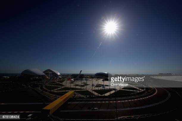 Valtteri Bottas driving the Mercedes AMG Petronas F1 Team Mercedes F1 WO8 on track during the Formula One Grand Prix of Russia on April 30 2017 in...