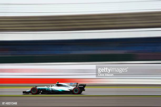 Valtteri Bottas driving the Mercedes AMG Petronas F1 Team Mercedes F1 WO8 on track during final practice for the Formula One Grand Prix of Great...