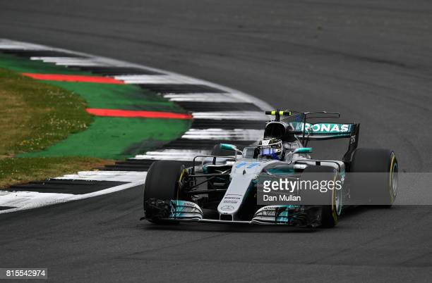 Valtteri Bottas driving the Mercedes AMG Petronas F1 Team Mercedes F1 WO8 on track during the Formula One Grand Prix of Great Britain at Silverstone...