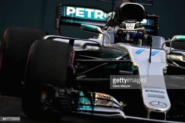Valtteri Bottas driving the Mercedes AMG Petronas F1 Team Mercedes F1 WO8 on track during final practice for the Formula One Grand Prix of Singapore...