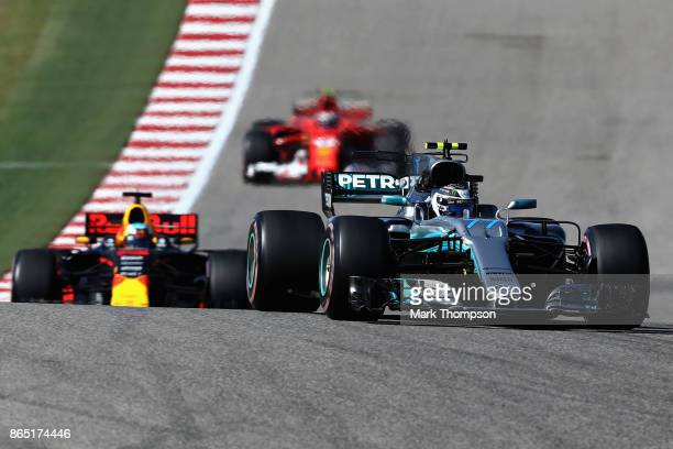 Valtteri Bottas driving the Mercedes AMG Petronas F1 Team Mercedes F1 WO8 on track during the United States Formula One Grand Prix at Circuit of The...