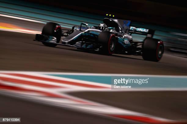 Valtteri Bottas driving the Mercedes AMG Petronas F1 Team Mercedes F1 WO8 on track during the Abu Dhabi Formula One Grand Prix at Yas Marina Circuit...