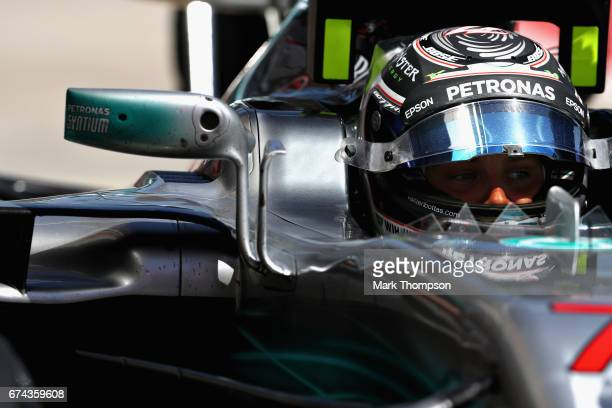 Valtteri Bottas of Finland and Mercedes GP in the Pitlane during practice for the Formula One Grand Prix of Russia on April 28 2017 in Sochi Russia