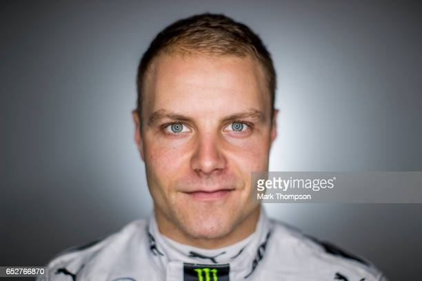 Valtteri Bottas of Finland and Mercedes GP poses for a portrait during day three of Formula One winter testing at Circuit de Catalunya on March 9...