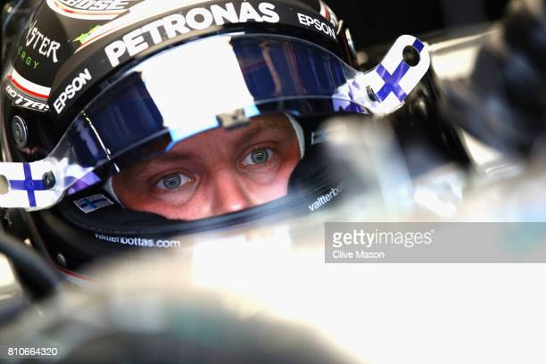 Valtteri Bottas of Finland and Mercedes GP prepares to drive during final practice for the Formula One Grand Prix of Austria at Red Bull Ring on July...