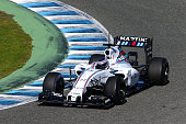 Valtteri Bottas of Finland and Williams drives during day one of Formula One Winter Testing at Circuito de Jerez on February 1 2015 in Jerez de la...