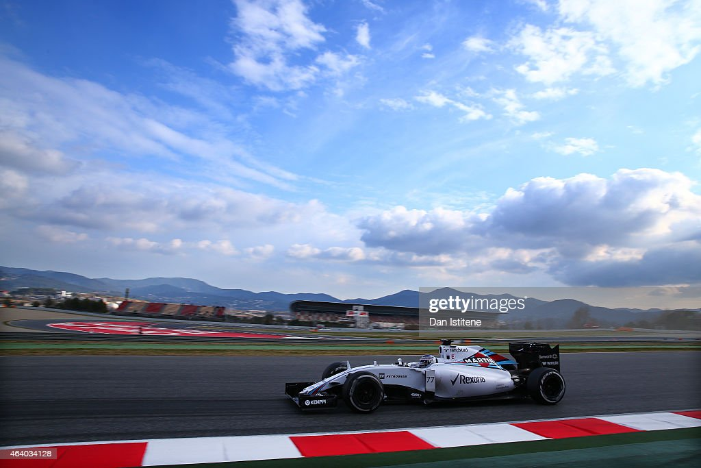 Valtteri Bottas of Finland and Williams drives during day three of Formula One Winter Testing at Circuit de Catalunya on February 21, 2015 in Montmelo, Spain.
