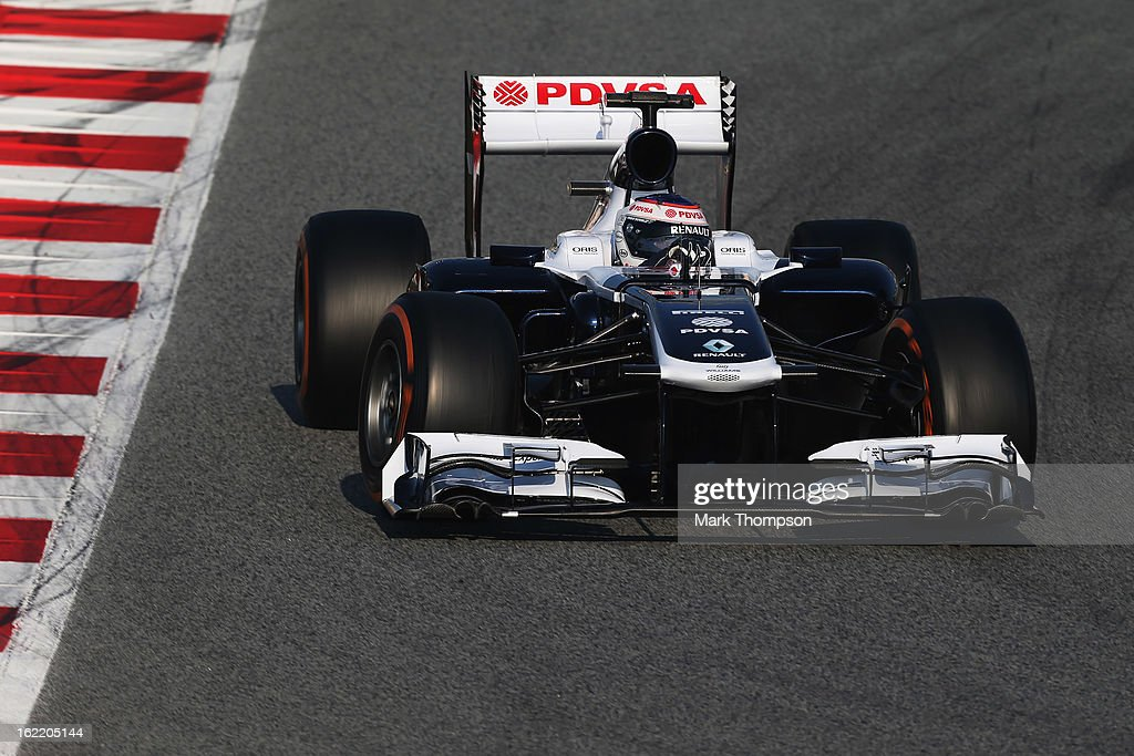 Valtteri Bottas of Finland and Williams drives during day two of Formula One winter test at the Circuit de Catalunya on February 20, 2013 in Montmelo, Spain.