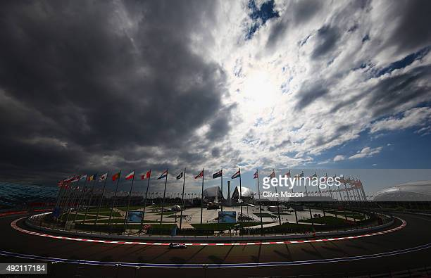 Valtteri Bottas of Finland and Williams drives during final practice for the Formula One Grand Prix of Russia at Sochi Autodrom on October 10 2015 in...