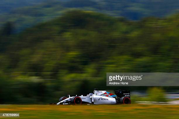 Valtteri Bottas of Finland and Williams drives during Formula One Testing at the Red Bull Ring on June 24 2015 in Spielberg Austria