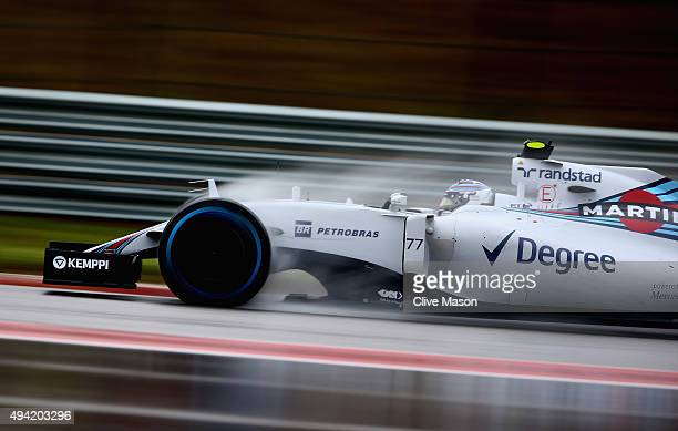 Valtteri Bottas of Finland and Williams drives during qualifying before the United States Formula One Grand Prix at Circuit of The Americas on...