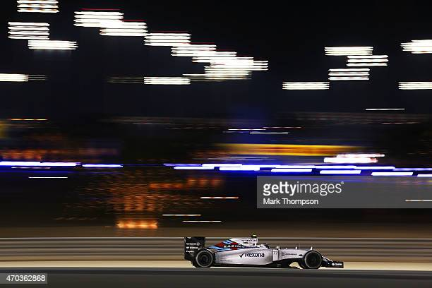 Valtteri Bottas of Finland and Williams drives during the Bahrain Formula One Grand Prix at Bahrain International Circuit on April 19 2015 in Bahrain...