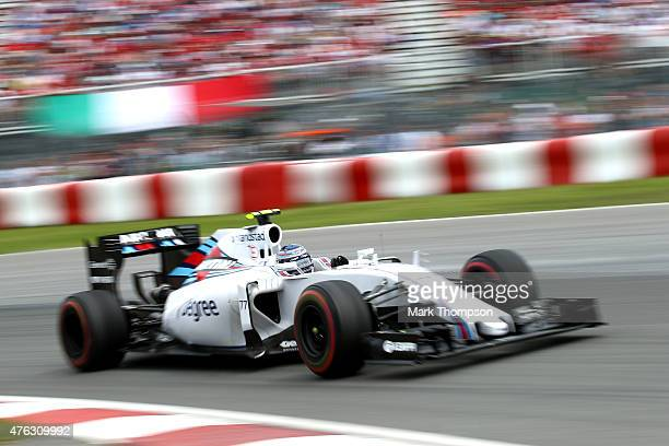 Valtteri Bottas of Finland and Williams drives during the Canadian Formula One Grand Prix at Circuit Gilles Villeneuve on June 7 2015 in Montreal...