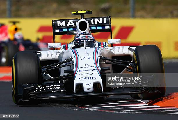 Valtteri Bottas of Finland and Williams drives during the Formula One Grand Prix of Hungary at Hungaroring on July 26 2015 in Budapest Hungary