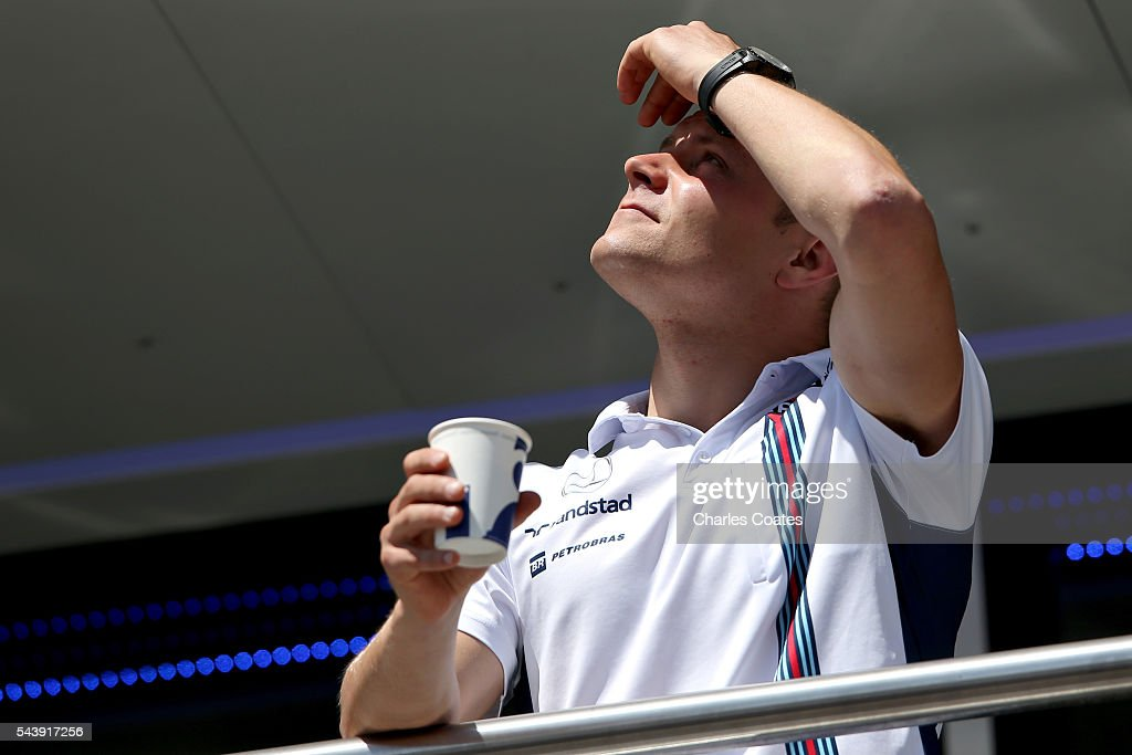 <a gi-track='captionPersonalityLinkClicked' href=/galleries/search?phrase=Valtteri+Bottas&family=editorial&specificpeople=8640136 ng-click='$event.stopPropagation()'>Valtteri Bottas</a> of Finland and Williams in the Paddock during previews ahead of the Formula One Grand Prix of Austria at Red Bull Ring on June 30, 2016 in Spielberg, Austria.