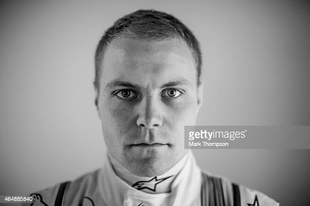 Valtteri Bottas of Finland and Williams poses for a portrait during day three of Formula One Winter Testing at Circuit de Catalunya on February 21...