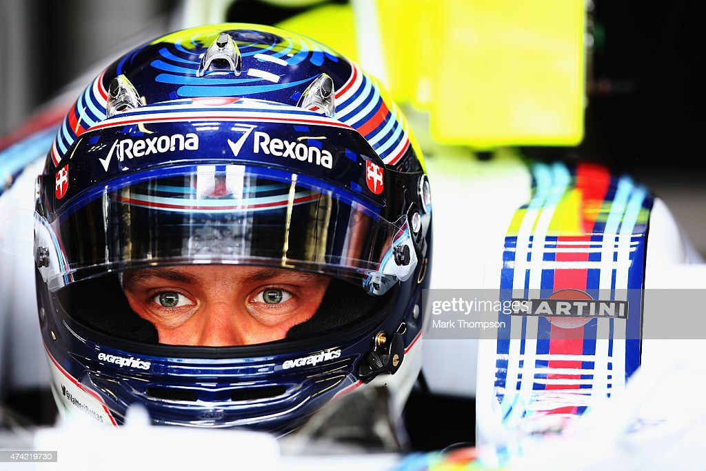 <a gi-track='captionPersonalityLinkClicked' href=/galleries/search?phrase=Valtteri+Bottas&family=editorial&specificpeople=8640136 ng-click='$event.stopPropagation()'>Valtteri Bottas</a> of Finland and Williams prepares to drive during practice for the Monaco Formula One Grand Prix at Circuit de Monaco on May 21, 2015 in Monte-Carlo, Monaco.