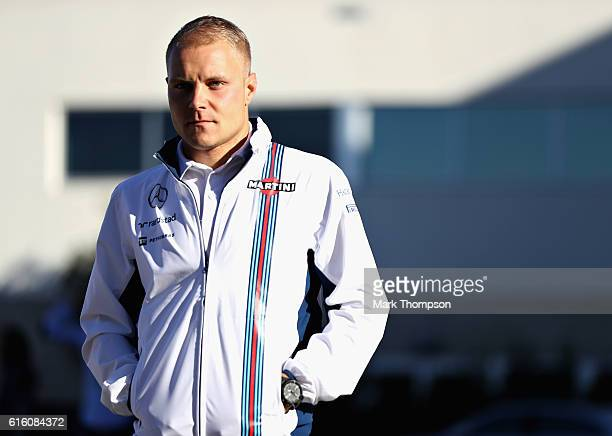 Valtteri Bottas of Finland and Williams walks in the Paddock after practice for the United States Formula One Grand Prix at Circuit of The Americas...