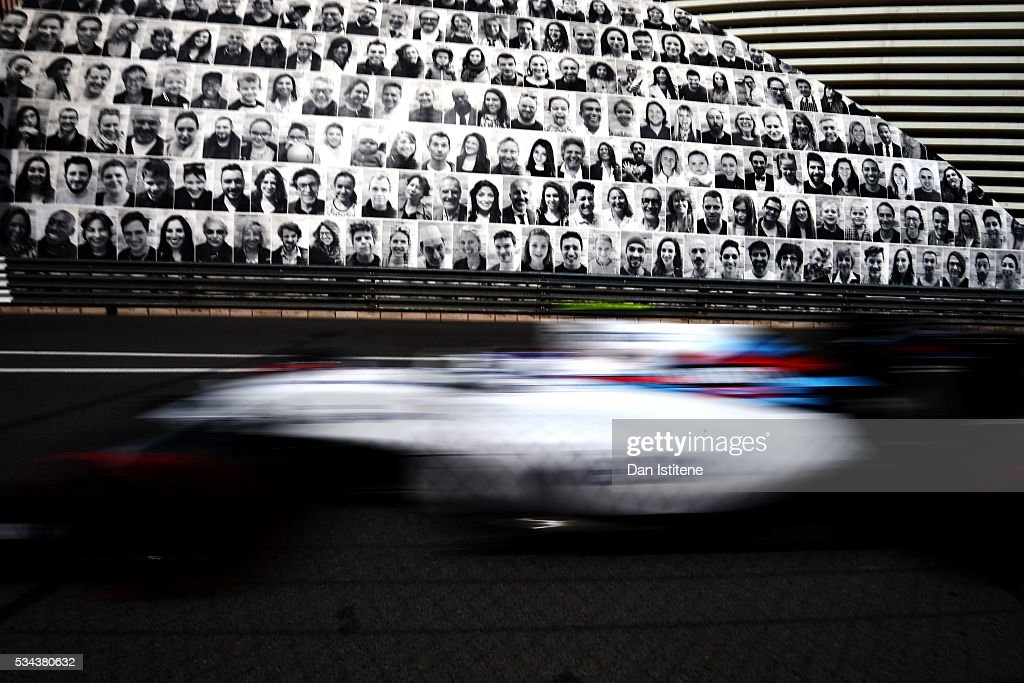Valtteri Bottas of Finland driving the (77) Williams Martini Racing Williams FW38 Mercedes PU106C Hybrid turbo on track during practice for the Monaco Formula One Grand Prix at Circuit de Monaco on May 26, 2016 in Monte-Carlo, Monaco.