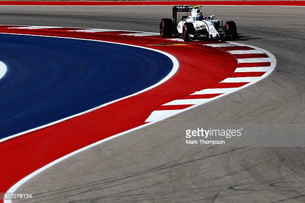 Valtteri Bottas of Finland driving the Williams Martini Racing Williams FW38 Mercedes PU106C Hybrid turbo on track during final practice for the...