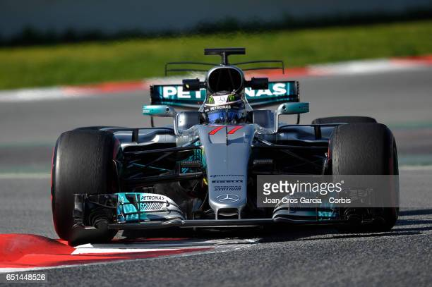 Valtteri Bottas of Mercedes AMG Petronas driving his car during the Formula One Winter tests on May 9 2017 in Barcelona Spain