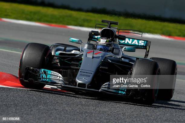 Valtteri Bottas of Mercedes AMG Petronas driving his car during the Formula One Winter tests on May 10 2017 in Barcelona Spain