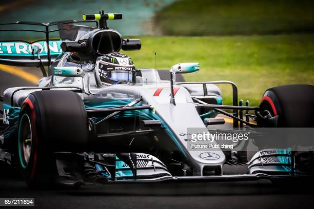 Valtteri Bottas of Mercedes AMG Petronas Motorsport competes in the 2nd F1 practice session at the 2017 Australian Formula 1 Grand Prix on March 24...