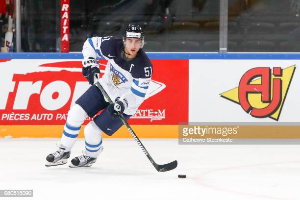Valtteri Filppula of Finland in action during the 2017 IIHF Ice Hockey World Championship game between Finland and France at AccorHotels Arena on May...