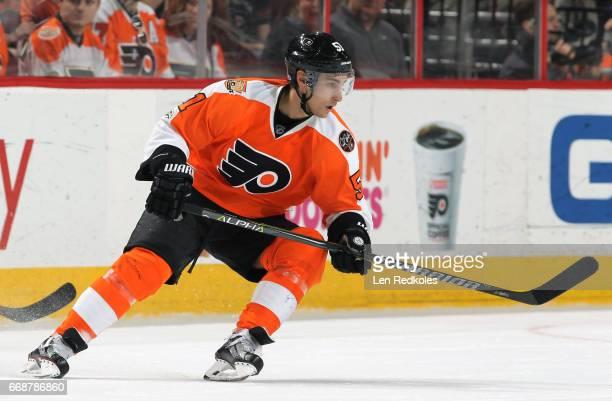 Valtteri Filppula of the Philadelphia Flyers skates against the Carolina Hurricanes on April 9 2017 at the Wells Fargo Center in Philadelphia...