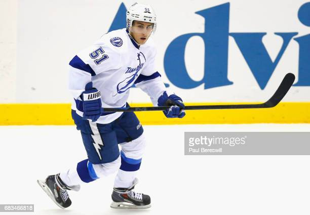 Valtteri Filppula of the Tampa Bay Lightning plays in the game against the New York Islanders at Nassau Veterans Memorial Coliseum on November 18...