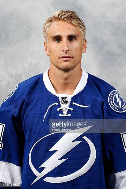 Valtteri Filppula of the Tampa Bay Lightning poses for his official headshot for the 20152016 season on September 17 2015 at Amalie Arena in Tampa...